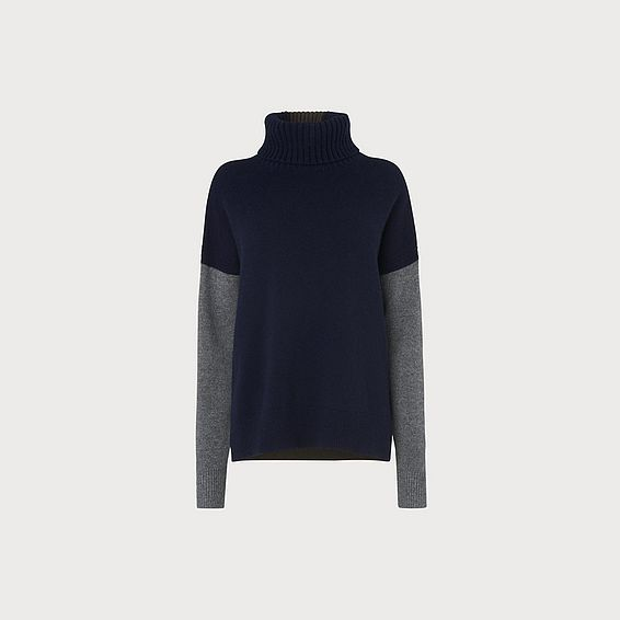 Sissi Navy Wool Cashmere Jumper