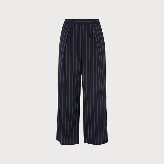 Elani Navy Pinstripe Trouser