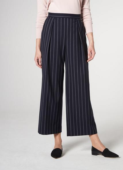 Elani Navy Pinstripe Trousers