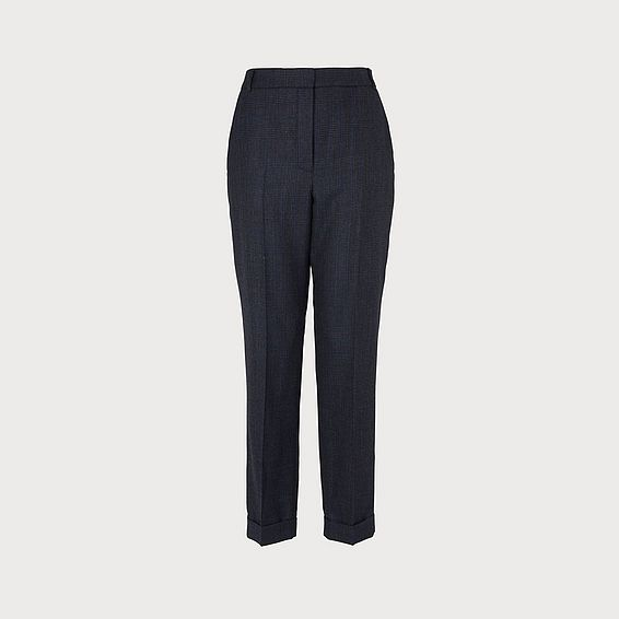Hattie Grey Wool Trouser