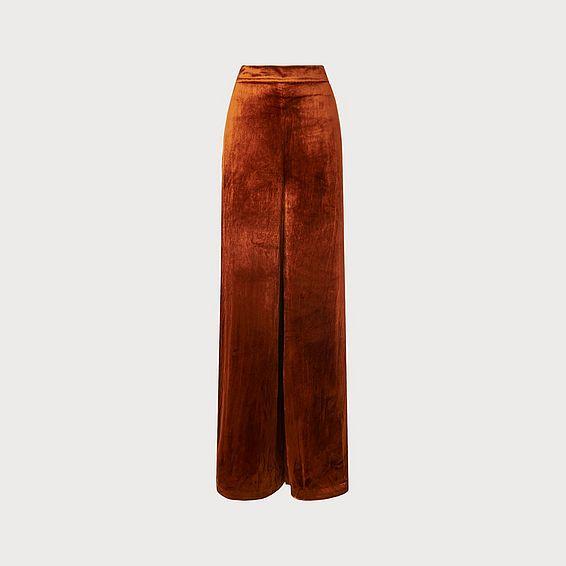 Noemi Rust Velvet Trouser