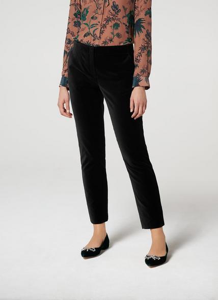 Roxane Black Velvet Trousers