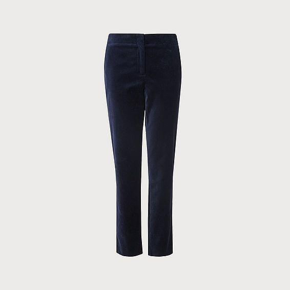 Roxane Velvet Navy Trouser