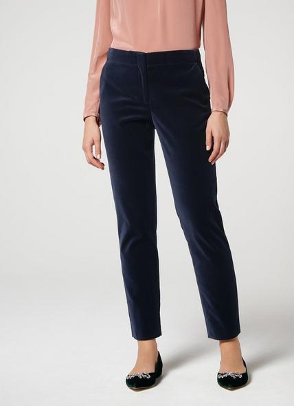 Roxane Velvet Navy Trousers