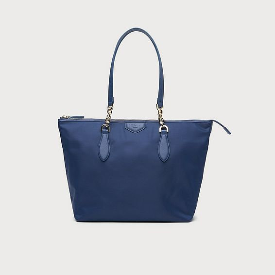 Brooke Navy Tote Bag
