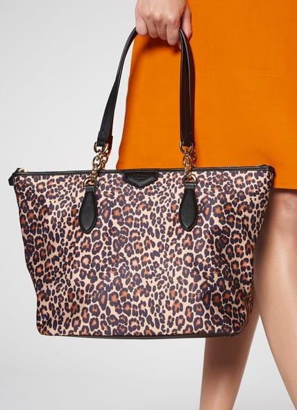 Brooke Leopard Print Tote Bag
