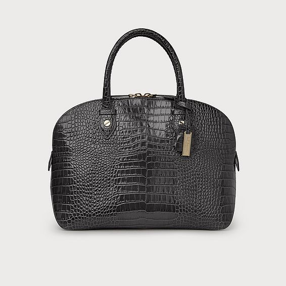 Camilla Grey Croc Effect Tote Bag