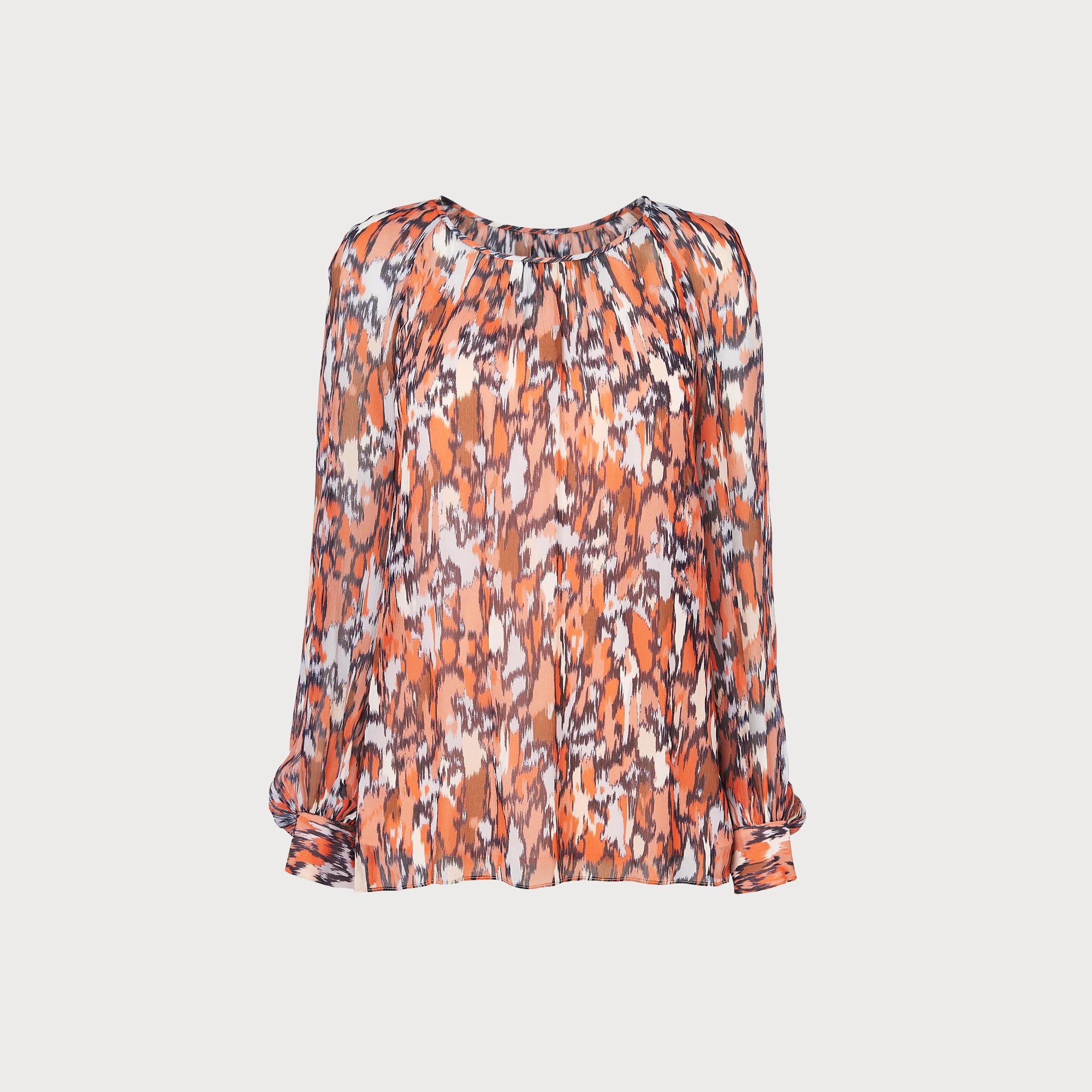 Agnes Orange Silk Top
