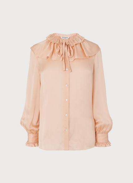 Ariella Pink Silk Blouse