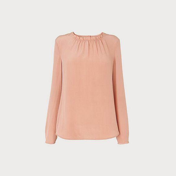 Gill Pink Silk Blouse