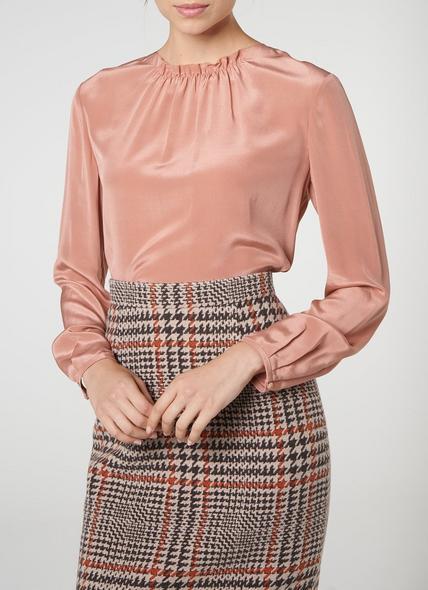 Gill Pink Silk Blouse