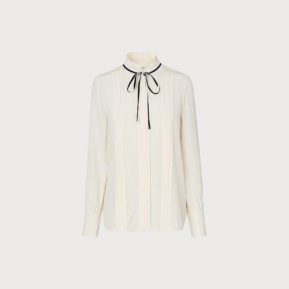 Natalia Cream Silk Woven Top