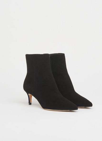 Tamara Black Suede Ankle Boots
