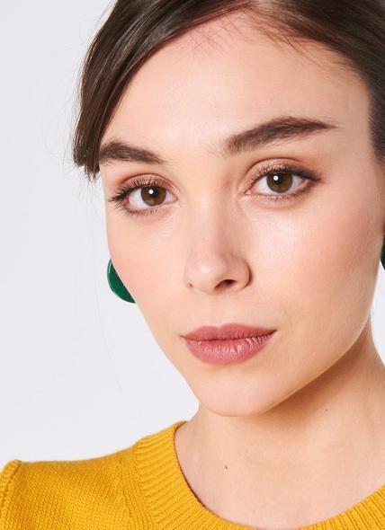 Darcie Green Resin Hoop Earrings