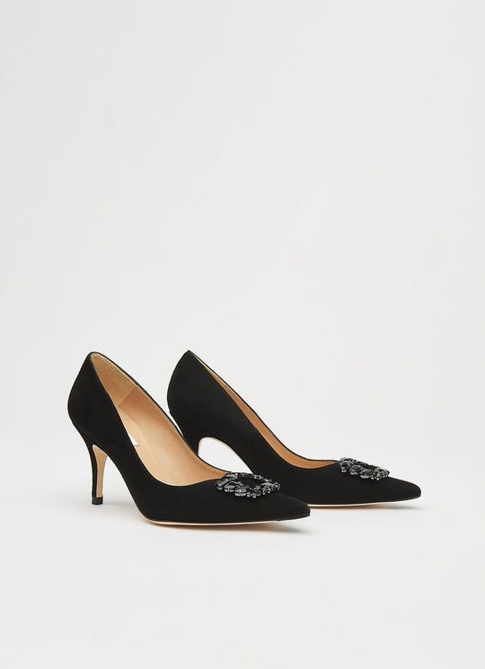 CRYSTALS POINTED TOE COURTS lk bennett black