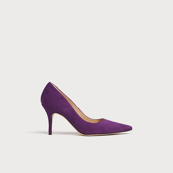 Harmony Purple Suede Pointed Toe Courts