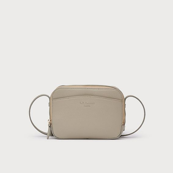 Mariel Putty Leather Shoulder Bag