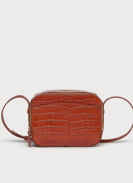Mariel Tan Croc Effect Shoulder Bag