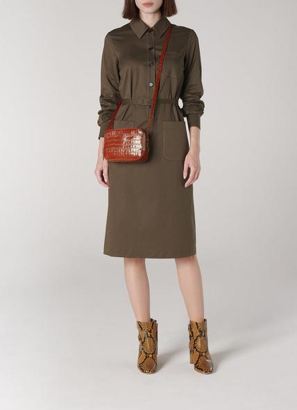 Mariel Tan Croc Effect Shoulder Bag