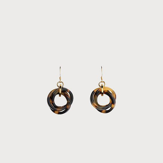 Jasmine Tortoise Shell Helix Drop Earrings