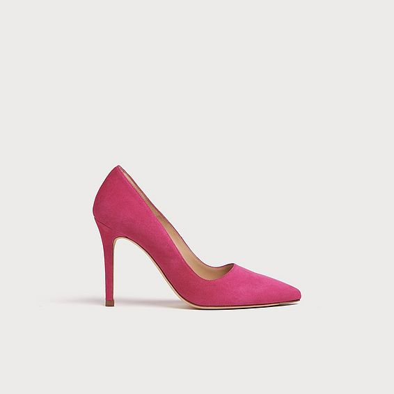 Katie Magenta Suede Pointed Toe Courts
