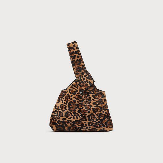 Taylor Leopard Print Calf Hair Clutch