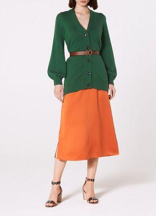 Rosa Green Wool Blend Cardigan