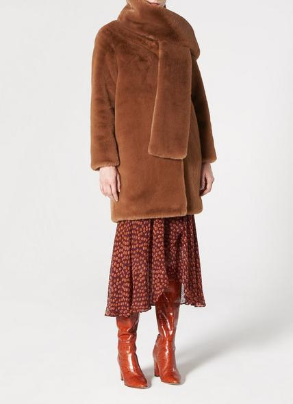 Aspen Brown Faux Fur Coat
