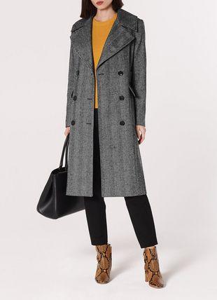 Aurelia Herringbone Wool-Blend Coat