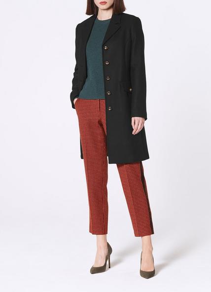 Eleanor Black Wool-Blend Pea Coat