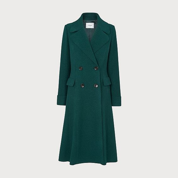 Marta Forest Green Wool Coat