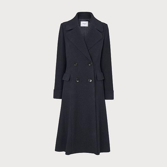 Marta Navy Wool Coat