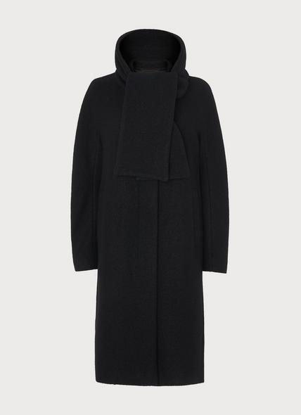 Mimi Black Wool Cocoon Coat