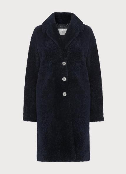Oscar Navy Shearling Coat