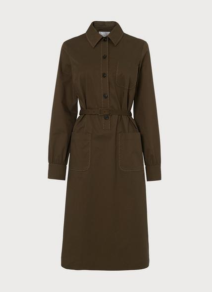 Collins Green Cotton Elastane Dress