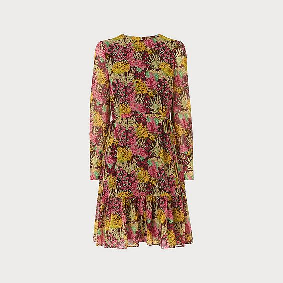 Dakota 1930's Floral Print Midi Dress