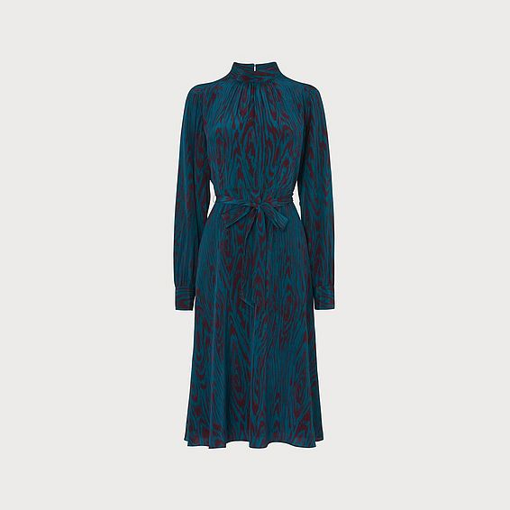 Dora Blue Silk Dress
