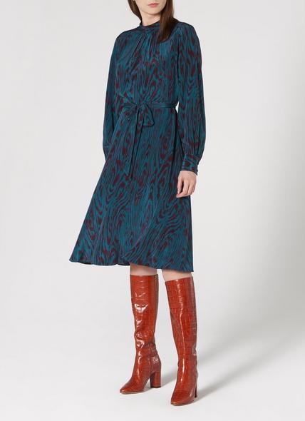 Dora Blue Silk Dress