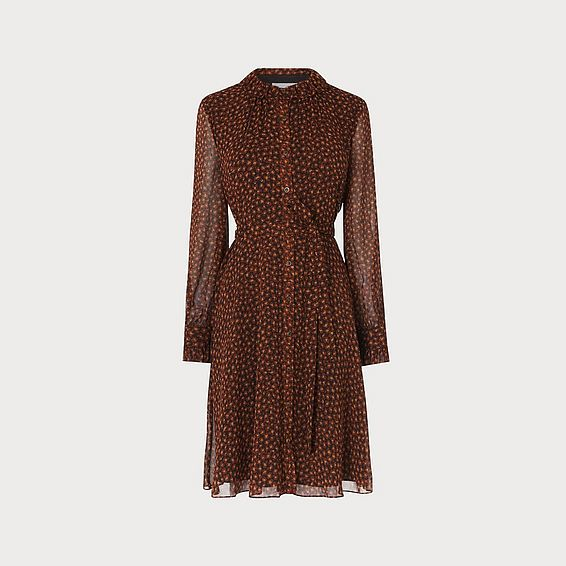 Eliza Leopard Print Dress