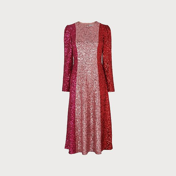 Fitzgeral Multi Sequin Dress