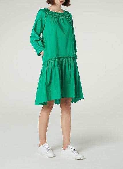 Frida Green Cotton Oversized Dress