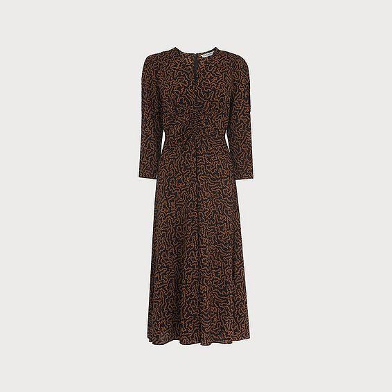 Gabrielle Coral Print Midi Dress