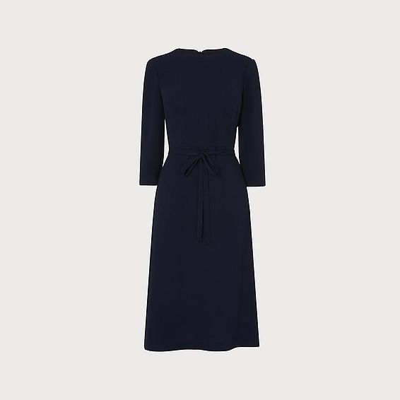 Iris Navy Crepe Dress