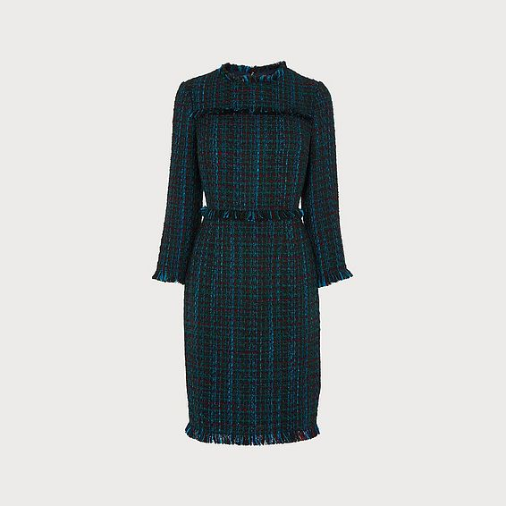 Josie Blue Tweed Dress
