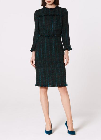 Josie Blue Tweed Dress