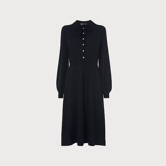 Launay Navy Merino Wool Dress