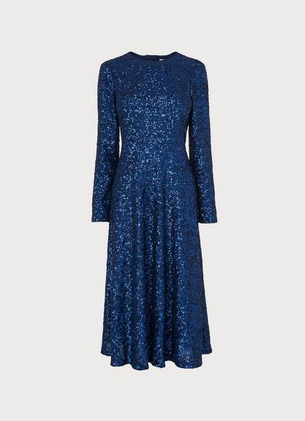 Lazia Navy Sequin Dress