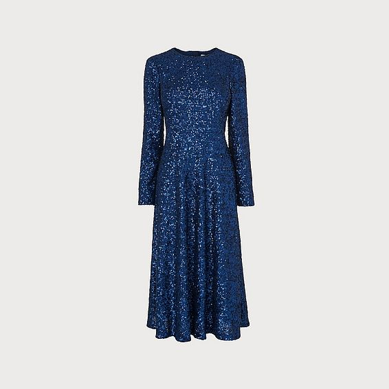 Lazia Navy Sequin Dress