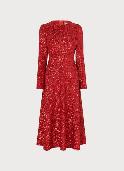 Lazia Red Sequin Dress