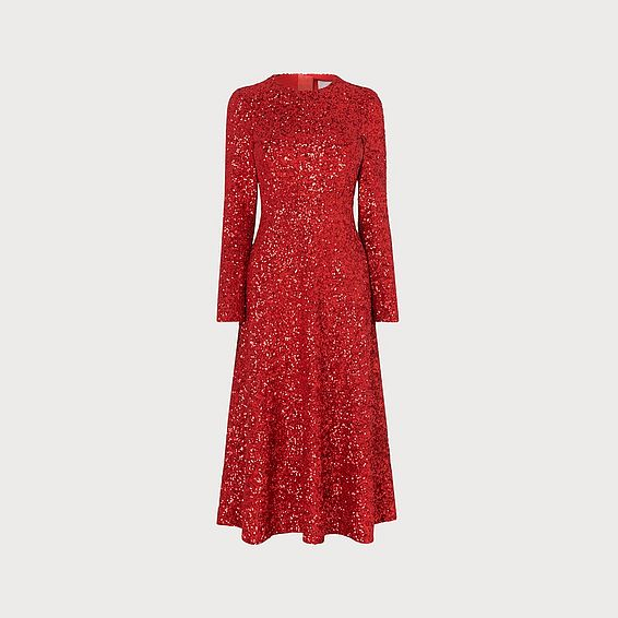 Lazia Red Sequin Dress